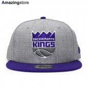 ニューエラ 9FIFTY スナップバック サクラメント キングス 【NBA 2T TEAM-BASIC SNAPBACK/HEATHER GREY-PUR】 NEW ERA SACRAMENTO KINGS