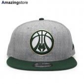 ニューエラ 9FIFTY スナップバック ミルウォーキー バックス 【NBA 2T TEAM-BASIC SNAPBACK/HEATHER GREY-PUR】 NEW ERA MILWAUKEE BUCKS