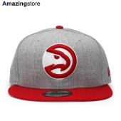 ニューエラ 9FIFTY スナップバック アトランタ ホークス 【NBA 2T TEAM-BASIC SNAPBACK/HEATHER GREY-RED】 NEW ERA ATLANTA HAWKS