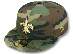 New Orleans Saints Wood camo New Era 59Fifty Cap