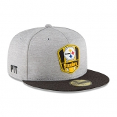 ニューエラ | ニューエラ ピッツバーグ スティーラーズ 【ROAD 2018 NFL ON FIELD STADIUM/GREY-BLK】 NEW ERA PITTSBURGH STEELERS