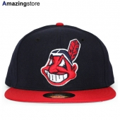 ニューエラ 59FIFTY クリーブランド インディアンス 【MLB OLD AUTHENTIC COLOR GAME 1999-2002/NAVY-RED】 NEW ERA NEW ERA CLEVELAND INDIANS