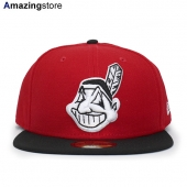 ニューエラ 59FIFTY クリーブランド インディアンス 【MLB 2T TEAM-BASIC/RED-BLK】 NEW ERA CLEVELAND INDIANS