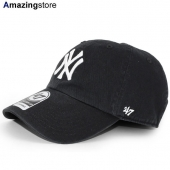 47ブランド ニューヨーク ヤンキース 【MLB CLEAN UP STRAPBACK/BLK】 47BRAND NEW YORK YANKEES