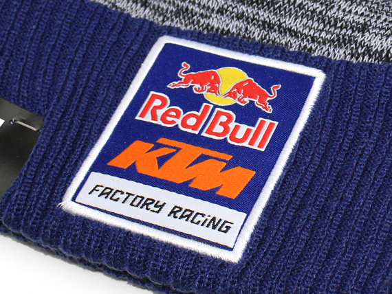 055b7a29f1b NEW ERA RED BULL KTM FACTORY RACING  2 TONE POM KNIT BEANIE GREY ...