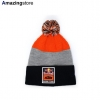 ニューエラ ニット ビーニー レッドブル KTM レーシングチーム 【STRIPE POM POM KNIT BEANIE/ORG-GREY-NAVY】 NEW ERA RED BULL KTM RACING TEAM
