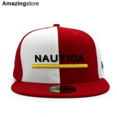 NEW ERA 59FIFTY ノーティカ 【COLOR BLOCK FITTED CAP/RED-WHT】 ニューエラ NAUTICA