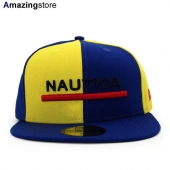 NEW ERA 59FIFTY ノーティカ 【COLOR BLOCK FITTED CAP/RYL BLUE-GOLD】 ニューエラ NAUTICA
