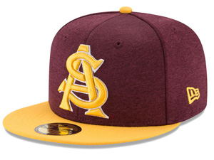 Arizona State Sun Devils Bucket Cap Zephyr Stretch Fit Fitted Tide Yellow Hat